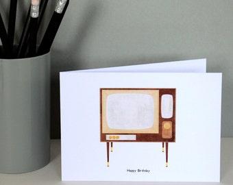 Television Birthday Card