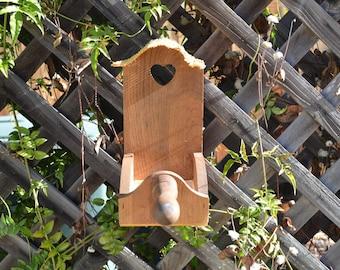 Wooden Rustic Primitive Style Bird Feeder