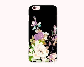 Floral iPhone 7 Case, iPhone 7 Plus Case, iPhone 6/6S Case, iPhone 6/6S Plus, iPhone 5/5S/SE Case, iPhone 5C Case - Lotus