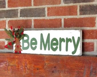 Wooden Christmas Decor, Christmas Decor, Wooden Decor, Wooden Believe Sign, Christmas Greenery, Holiday Decor, Rustic Christmas Decor