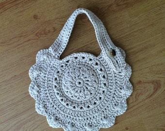 Crocheted baby bib, handmade crocheted bib, cotton baby bib.