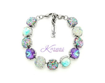 CONFETTI REMIX 12mm Crystal Bracelet Made With Swarovski Elements *Pick Your Finish *Karnas Design Studio *Free Shipping