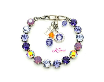 BIRD OF PARADISE 8mm Crystal Chaton Bracelet Made With Swarovski Stones *Pick Your Finish *Karnas Design Studio *Free Shipping*