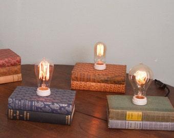 Vintage Book Lamp - Kathleen Norris