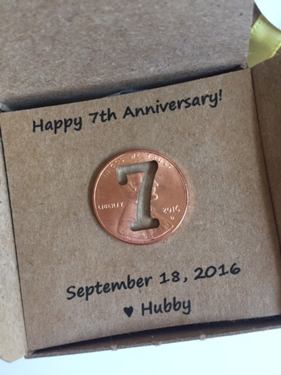 Gift For 7th Wedding Anniversary: 7th Anniversary Happy Anniversary Anniversary Gift Seven