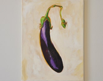 Asian Eggplant Painting