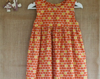 Little Orange Apples Baby/Toddler/Child Dress. Last One! Age 5.