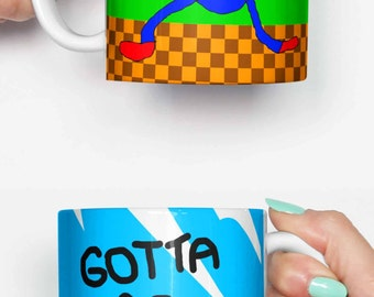 Sanic the Hedgehog gotta go fast - funny mug, gifts for him, meme mug, unique mug, office mug, christmas mug, gifts for her 4M138