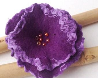 Brooch Flower Brooch Felt Brooch Felted brooch