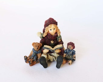 Boyds Collection Celebration Series, Yesterdays' Child Dollstone Collection, Megan with Elliot and Annie, Collectible Figurine