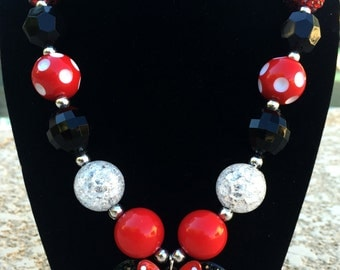 Minnie Mouse Chunky Bead Necklace