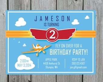 Planes Theme Birthday Party Invitation-Planes Birthday Party Invite- Planes Theme Birthday Invitation-Birthday Party