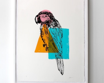 Parrot Print- limited edition screen print
