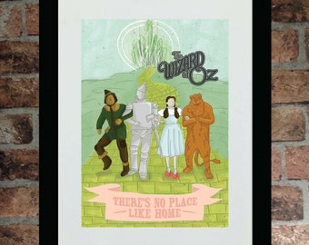 Wizard of Oz minimalist A3 artwork - framed or unframed available