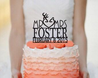 Mr Mrs Deer Wedding Cake topper