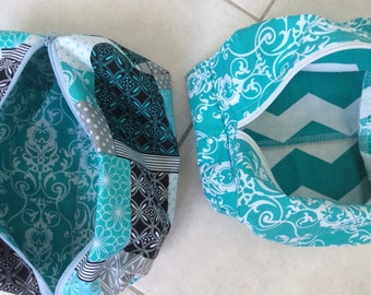 Teal Blue travel bags two styles available