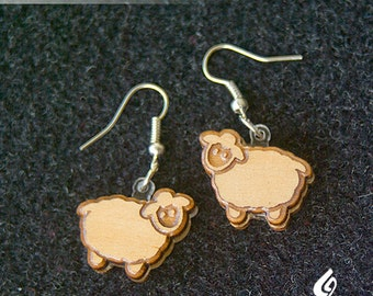 Timber Sheep Earrings