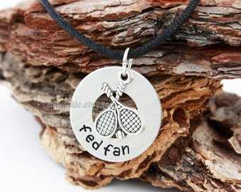 Roger Federer, Tennis Pendant Necklace, tennis gift, Personalized tennis sports pendant, Fed Fan, Sports necklace, sports gift, Under 25 30
