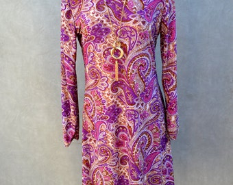 Tunic/Dress with Paisley Print