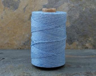 4 Ply Robin Egg Blue Waxed Irish Linen Thread 10 Yards WIL-31,bookbinding thread,waxed linen thread,robin egg thread,blue linen thread