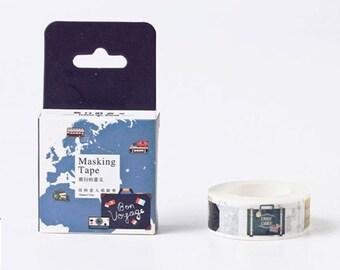Travel Tape,Luggage Tape,Washi Masking Tape, Craft Supply,Sticker Tape