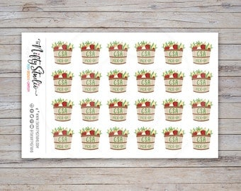 CSA Pick-up Stickers | Community Supported Agriculture Stickers | Planner Stickers | The Nifty Studio (#114)