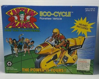1991 captain planet eco-cycle by tiger toys new in box