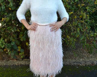 Maxime feather skirt custom made in your choice of color and length
