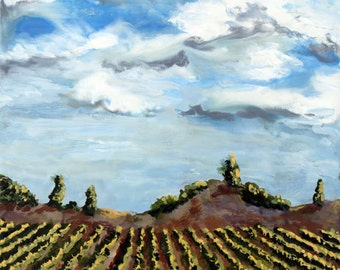 Encaustic Vineyard