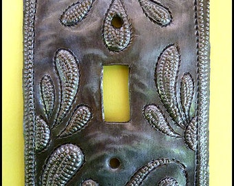 Metal Switch Plate - Metal Light Switchplate Cover - Light Switch Cover - Light Switch - Haitian Metal Art - Switchplate Covers - HS-103-1