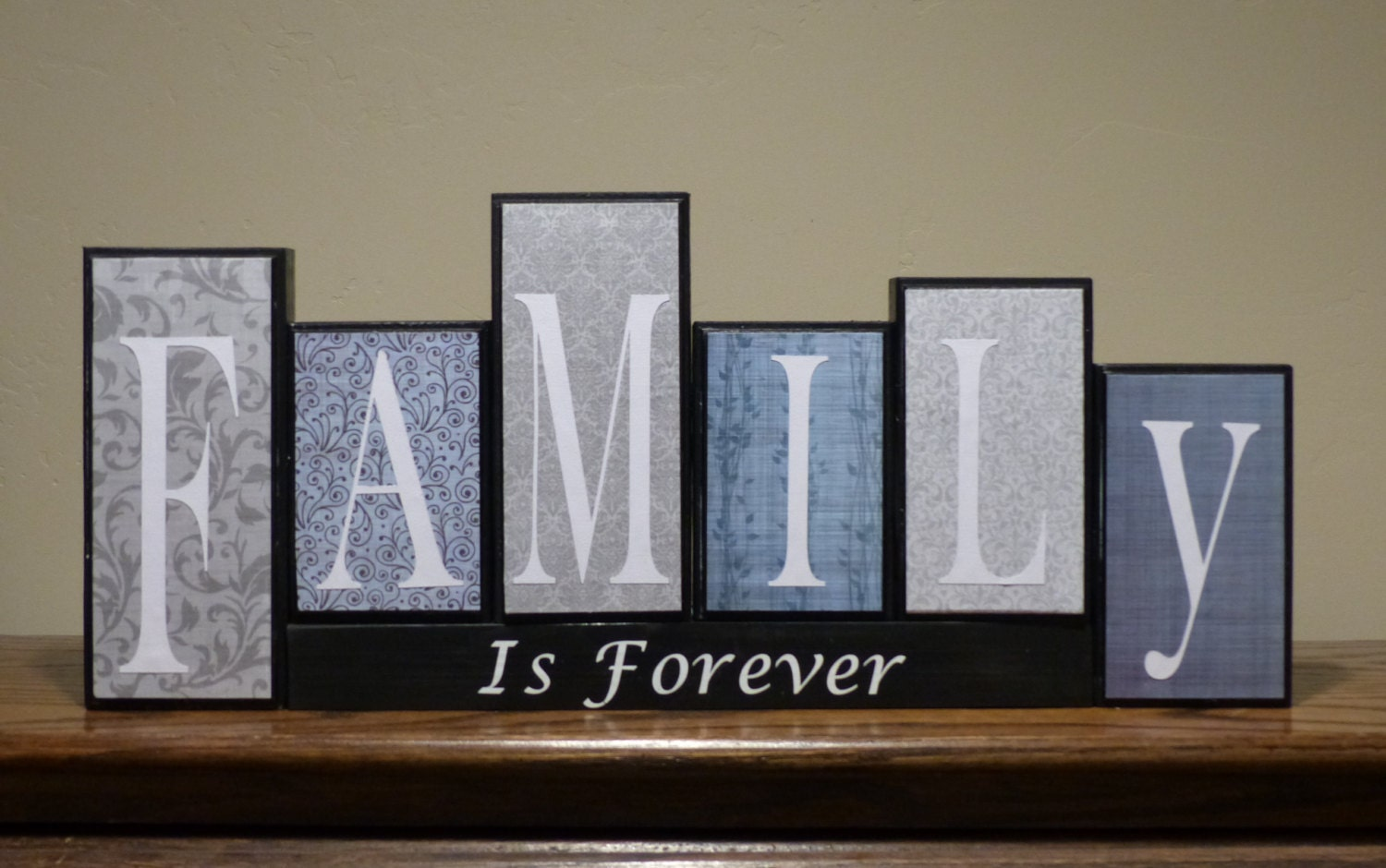 home decor living room decor name blocks block letter family