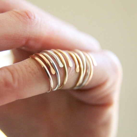 Dainty Minimalistic Wrap Rings Dainty Everyday Wrap Rings
