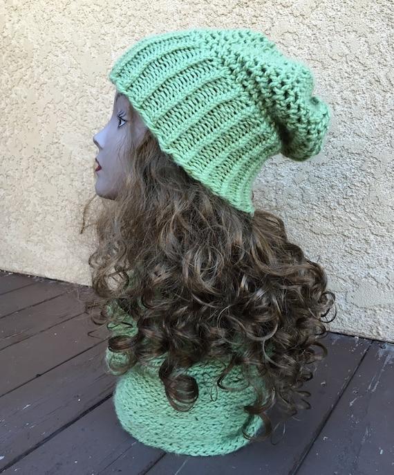 Mock Crochet Slouchy Hat - a loom knit pattern