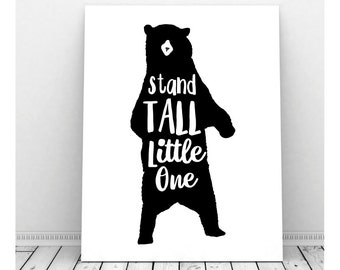 Tribal Nursery, Stand Tall, Bear Art, Tribal Nursery Wall Art, Tribal Nursery Art, Instant Download, Tribal Wall Art, Tribal Bedroom