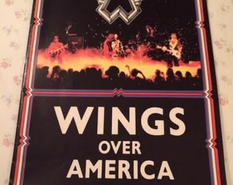 Paul McCartney Wings Over America 1976 Concert Program Magazine