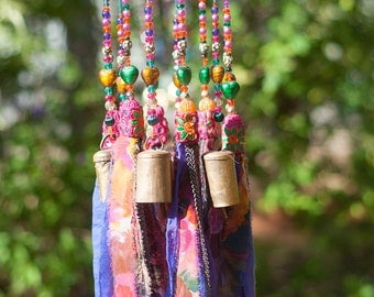 Wind chime-bohemian décor-bell wind chimes-indoor wind chimes-large wind chimes-wind bell-jewish decorations for the home or for your patio