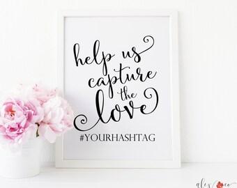 Personalized Wedding Sign. Wedding Hashtag Printable. Wedding Printable Signs. Hashtag Sign. Wedding Hashtag. Wedding Hashtag Sign.