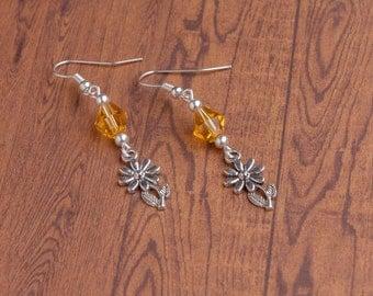Beaded Daisy Earrings | Spring Flower Earrings