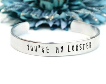 You're My Lobster Metal Stamp Bracelet