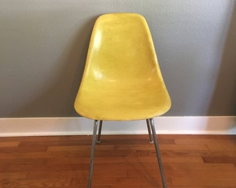 Eames Herman Miller Shell Chair - Yellow #9
