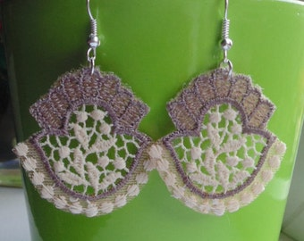 Blush Baroque Lace Earrings - Various designs
