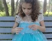 Frozen Elsa Dress, Frozen Dress, Princess Snowflake Cape, Party Dress-up, Girls  dress, Toddler girls dress