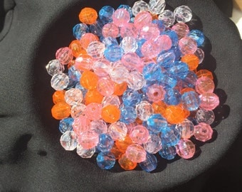 Assorted Colors Plastic Beads 190 ct