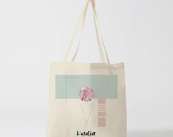 X254Y Tote bag summer ice, summer time, summer party, cotton bag, canvas bag, tote gift, purse, diaper bag, beach bag, bag yoga