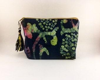 Clara- Purple Multi Color Cosmetic  Bag