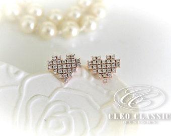 Heat Earrings   Girls Studs   Heart Jewelry   Love Earrings   Love Jewelry   Sister Gift   Best Friend