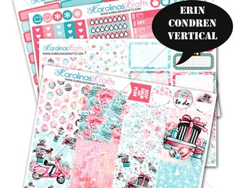 Holiday Stickers, Winter Planner Kit 200+ Winter Planner Stickers, for Erin Condren Sticker, December Planner Stickers #SQ00657-ECV
