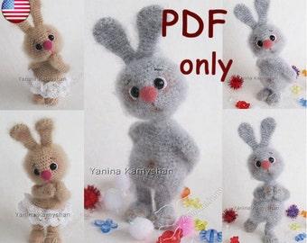 Little bunny, amigurumi crochet pattern pdf