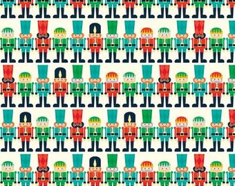 Nutcracker Christmas Fabric, Riley Blake C5335 Minis Cream, Nutcracker Fabric, Christmas Nutcracker Quilt Fabric, RBD Designers, 100% Cotton