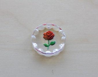 Vintage West German Glass Pendant.